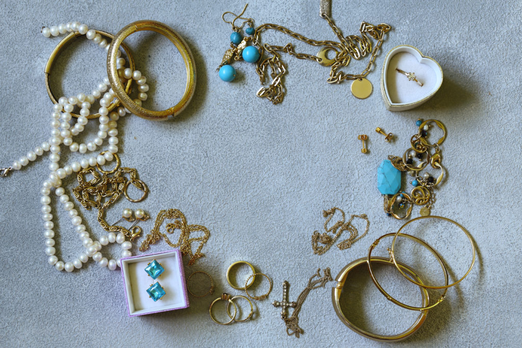 collections of gold jewelry