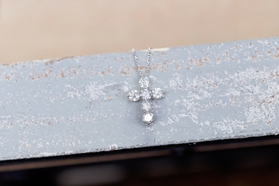 cross pendant of diamonds
