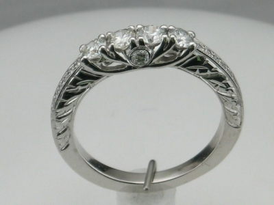 4 stone diamond ring